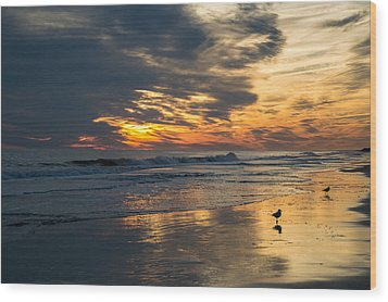 Atlantic Sunset Wood Print
