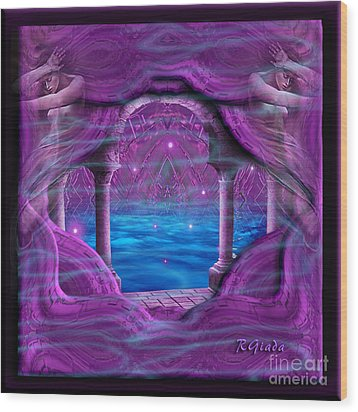 Wood Print featuring the digital art Atlantis - Fantasy Art By Giada Rossi by Giada Rossi