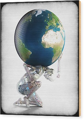 Atlas 3000 Wood Print by Frederico Borges