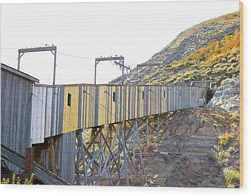 Atlas Coal Mine Fall Wood Print