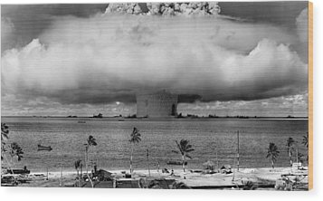 Atomic Bomb Test Wood Print by Mountain Dreams