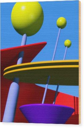 Atomic Dream Wood Print by Richard Rizzo