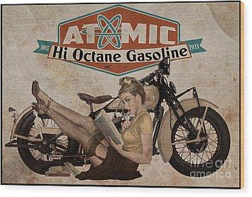 Atomic Gasoline Wood Print by Cinema Photography