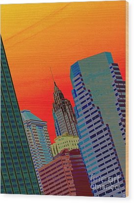 Atomic Skyline Wood Print by Andy Heavens