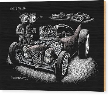Atomic Weirdness Wood Print by Bomonster