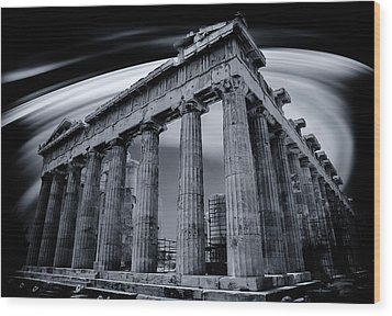 Atop The Acropolis Wood Print