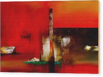 Atracando Wood Print by Thelma Zambrano