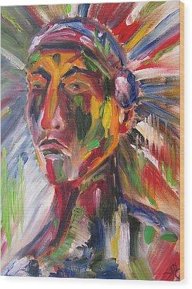 Atsila, Native American Wood Print