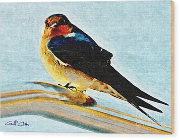 Attitude In Nature Wood Print by Geoff Childs