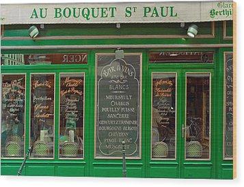 Au Bouquet St. Paul Wood Print by Matthew Bamberg