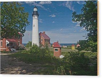 Au Sable Point Lighthouse  Wood Print