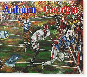Auburn Georgia Football  Wood Print by Mark Moore