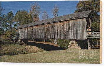 Auchumpkee Creek Bridge Wood Print by Donna Brown