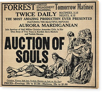 Auction Of Souls Wood Print by Bill Cannon