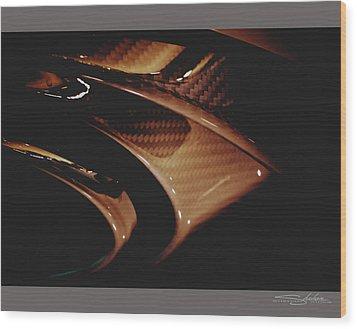 Audi 2014 Rs7 Carbon Fibre Exhaust  Wood Print