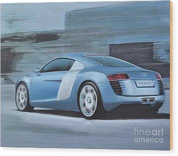 Audi R8 Lemans Concept Wood Print by Paul Kuras