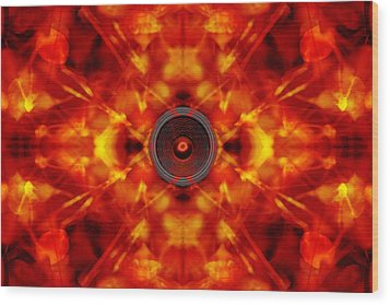 Audio Kaleidoscope Wood Print