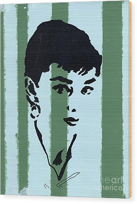 Audrey 7 Wood Print