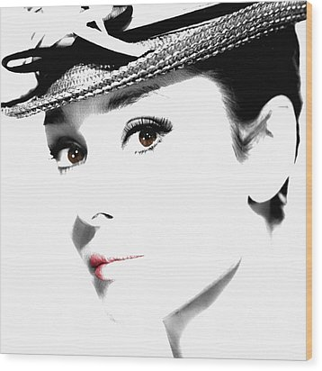 Audrey Hepburn 2 Wood Print by Andrew Fare