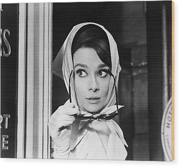 Audrey Hepburn In Charade  Wood Print by Silver Screen