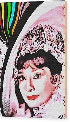 Audrey Hepburn In My Fair Lady Wood Print by Art Cinema Gallery