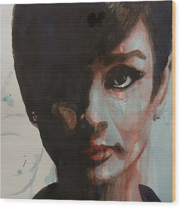 Audrey Hepburn  Wood Print by Paul Lovering