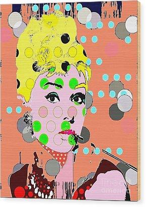 Audrey Hepburn Wood Print by Ricky Sencion