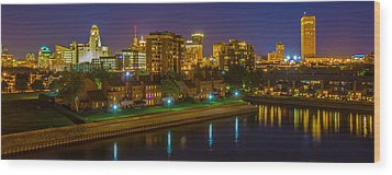 Wood Print featuring the photograph August Night In Buffalo by Don Nieman