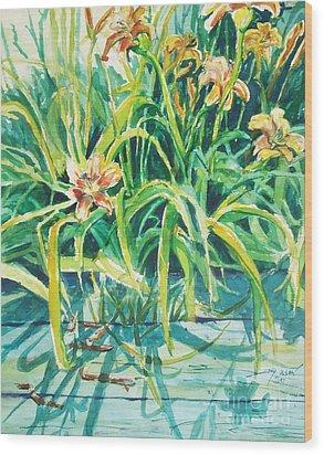 August Shadows Wood Print by Joy Nichols