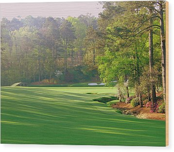 Augusta Hole 12 Wood Print by Bo  Watson