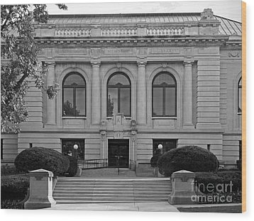 Augustana College Denkmann Memorial Hall Wood Print by University Icons