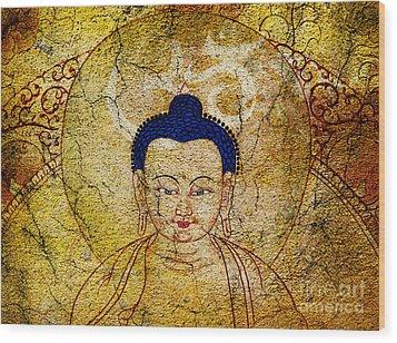 Aum Buddha Wood Print by Tim Gainey