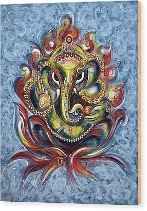 Aum Ganesha Wood Print