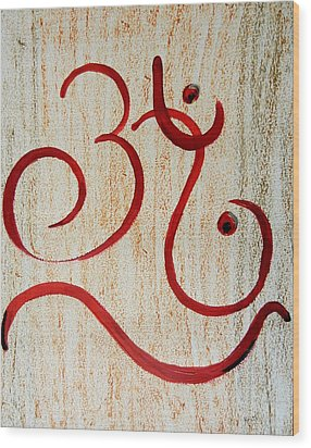 AUM Wood Print by Kruti Shah