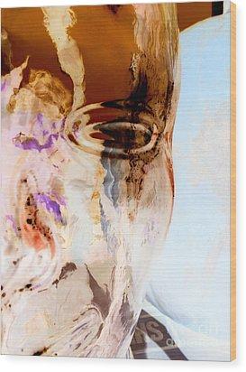 Wood Print featuring the photograph Aura Facade by Joy Angeloff