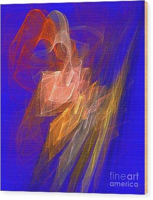 Aurora Blue Wood Print by Jeanne Liander