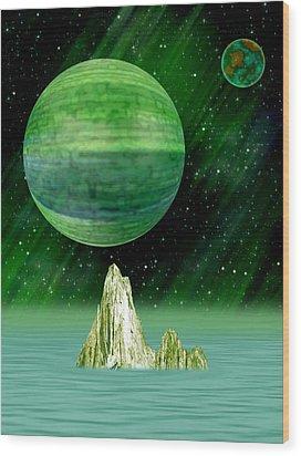 Aurora Borealis Wood Print by Piero Lucia