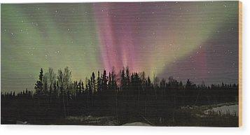 Aurora Burst Wood Print