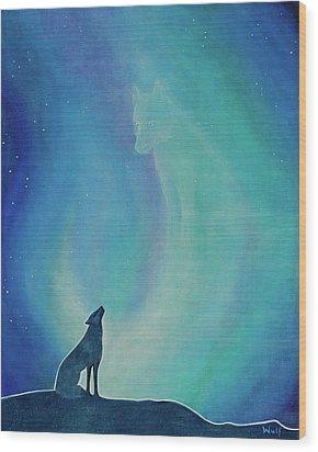 Aurorasong 1 Wood Print by Bernadette Wulf