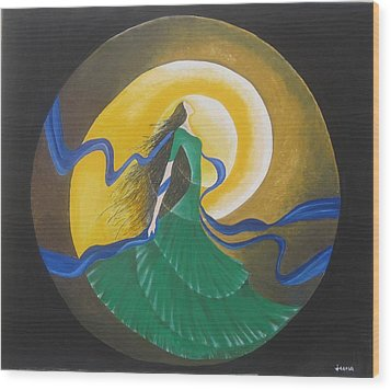 Auspicious Moment-oil Painting Wood Print by Rejeena Niaz