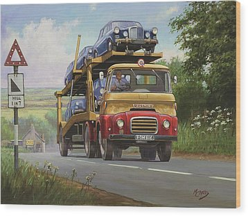 Austin Carrimore Transporter Wood Print by Mike  Jeffries