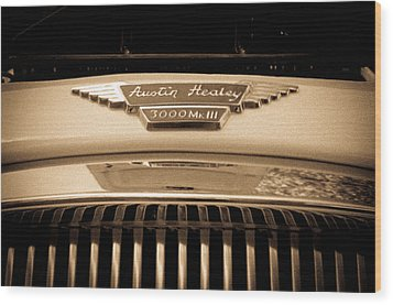 Wood Print featuring the photograph Austin Healey by Erin Kohlenberg