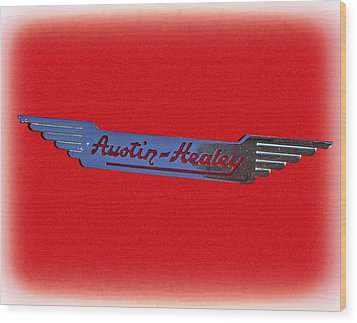 Austin-healey Wood Print by Larry Bishop