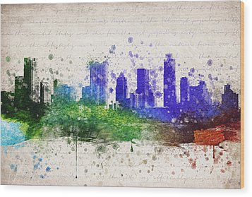 Austin In Color Wood Print by Aged Pixel
