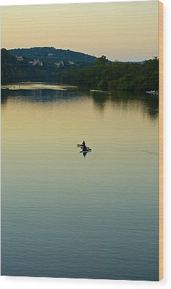 Austin Lady Bird Lake Wood Print