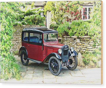 Austin Seven Wood Print by Paul Gulliver