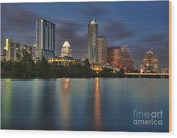 Austin Skyline 1 Wood Print