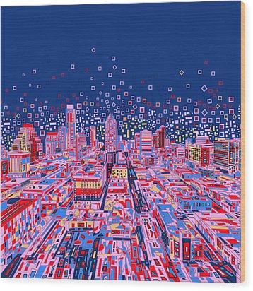 Austin Texas Abstract Panorama Wood Print