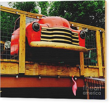 Austin Texas - Maria's Taco Express - Luther Fine Art Wood Print by Luther Fine Art