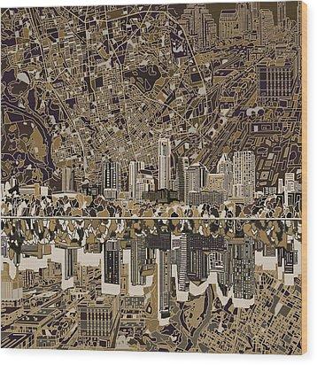 Austin Texas Skyline 5 Wood Print